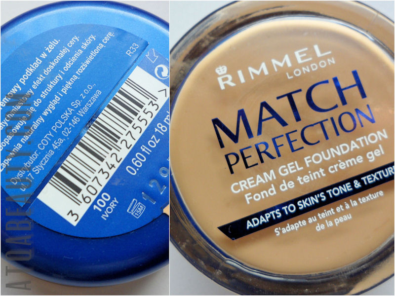 Rimmel, Match Perfection, Cream Gel Foundation