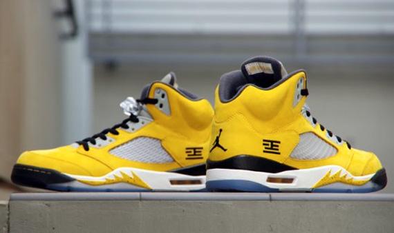 low cost 90149 942fa Air Jordan Retro 5 Tokyo23 Sneaker in Varsity Maize Anthracite-Wolf  Grey-Black