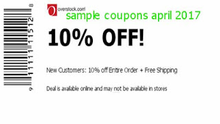 free Overstock coupons april 2017