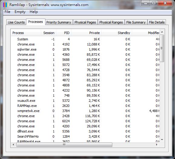 Image%2B015 - RAMMap - 輕巧詳細的記憶體資訊查看工具 免安裝版