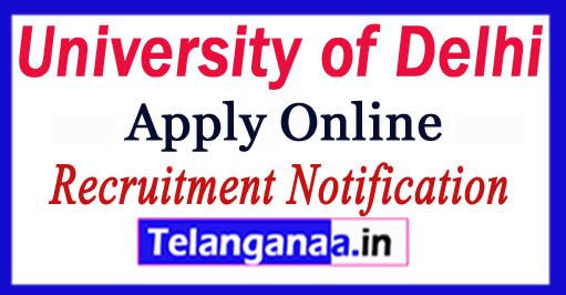 University of Delhi Recruitment Notification 2017 Apply