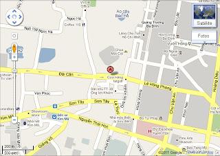 Mappa di Spagna Ambasciata in Vietnam