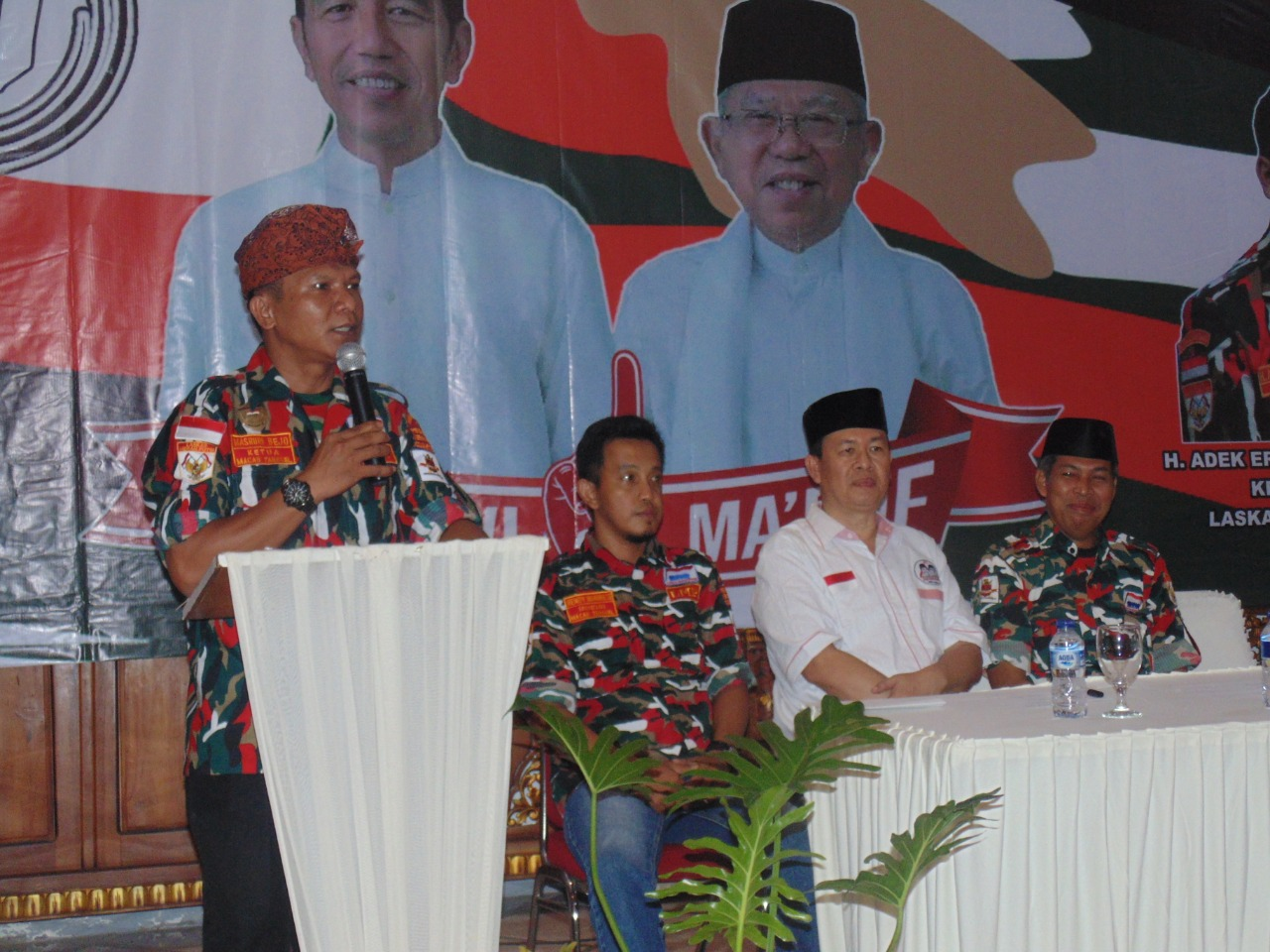 LMP Macab Tangsel Deklarasi Dukung Jokowi - Amin Paslon 01