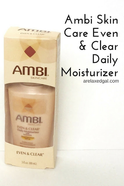 I've looked long and hard for a good facial moisturizer that has more pros than cons. See why the Ambi Skin Care Even & Clear Daily Moisturizer became my it moisturizer. | arelaxedgal.com