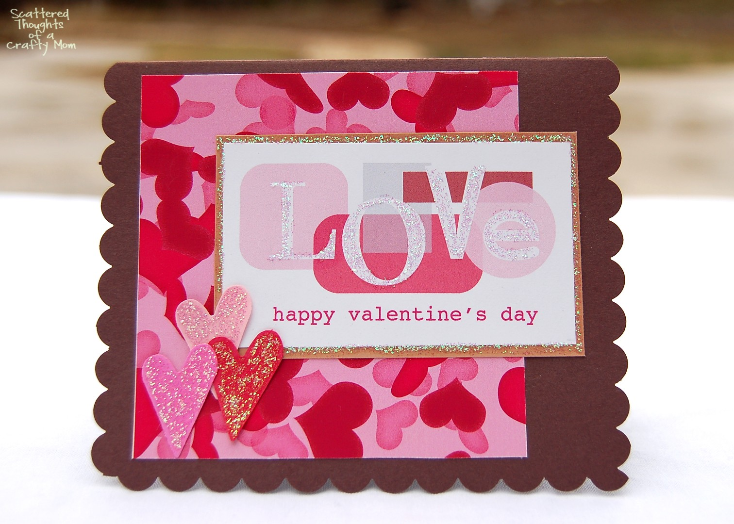 Easy Valentine S Day Card Scattered Thoughts Of A Crafty Mom By