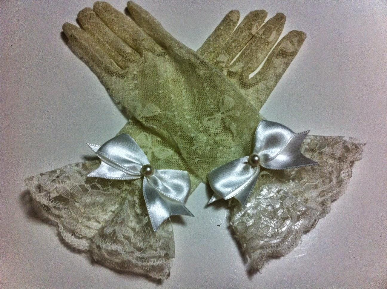 ekru dantel eldiven krem tül eldiven satın al