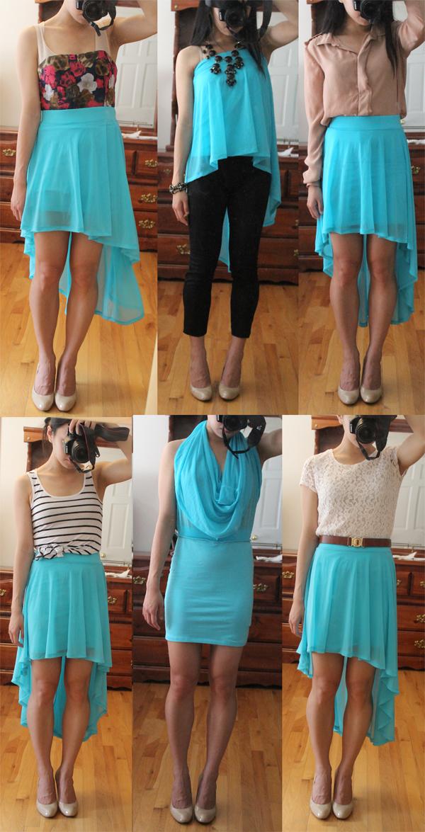Wear It Five Ways : High-Low Skirt