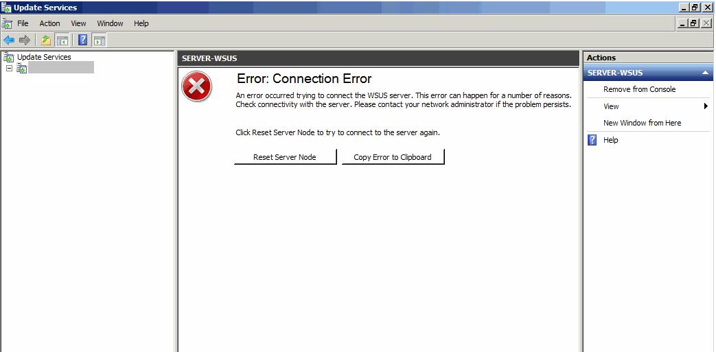 The Robot Archive: SCCM - WSUS - HTTP Error 500 19 - 0x8007007e