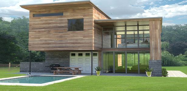 rumah kayu semi modern