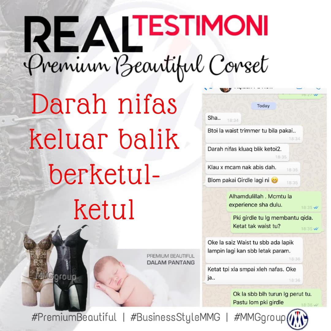 testimoni premium beautiful dalam pantang