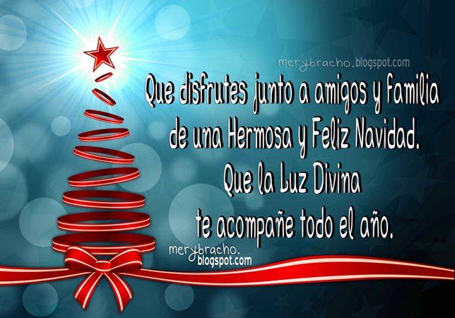 imagen de navidad con bonito saludo para toda la familia y para año nuevo