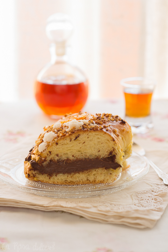 Roscón de Reyes súper esponjoso | relleno de crema de chocolate #sinlactosa