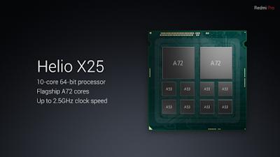Xiaomi Redmi Pro Helio X25 Processor