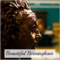 A sculpture of a head from a Birmingham museum.