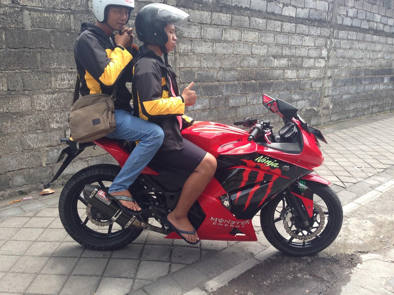 sewa motor sport ninja di bali