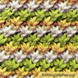 KnittingStitches.org - Daisy in the round is easier than you'd think. The stitch is a great and well written pattern.