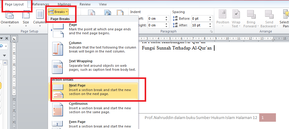 Cara Membuat Footnote Di Microsoft Words
