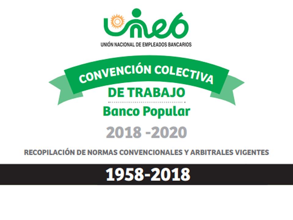 Cartila Banco Popular: Convención Colectiva de Trabajo
