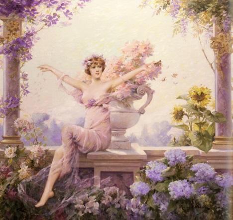 Flora, pintura de Louise Abbéma.
