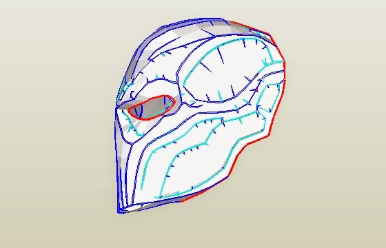 Dali lomo deathstroke costume mask diy cardboard free for Deathstroke armor template