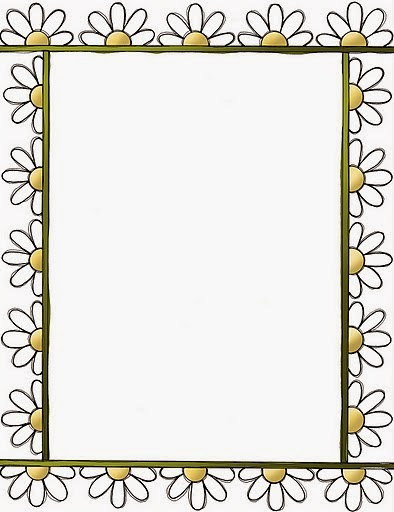 graphic regarding Printable Frame called Daisies: Totally free Printable Frames, Borders and Labels. Oh My