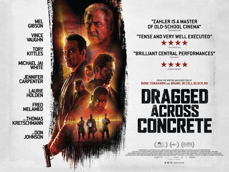 dragged across concrete uk poster