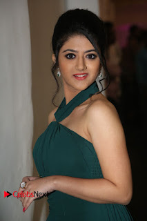 Actress Shriya Sharma Pictures in Long Dress at Nirmala Convent Audio Launch 0097