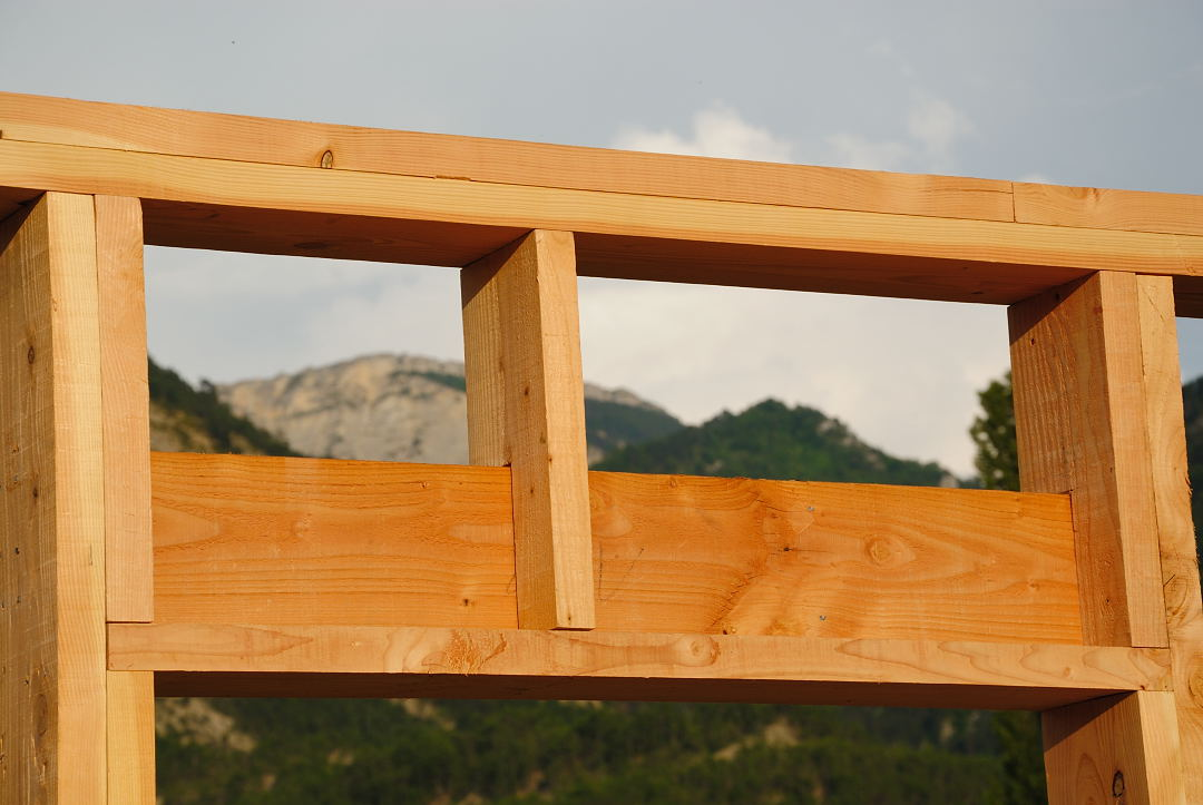 charpente bois linteau
