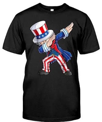 4th of july shirts 2018 Dabbing Uncle Sam T Shirt Hoodie