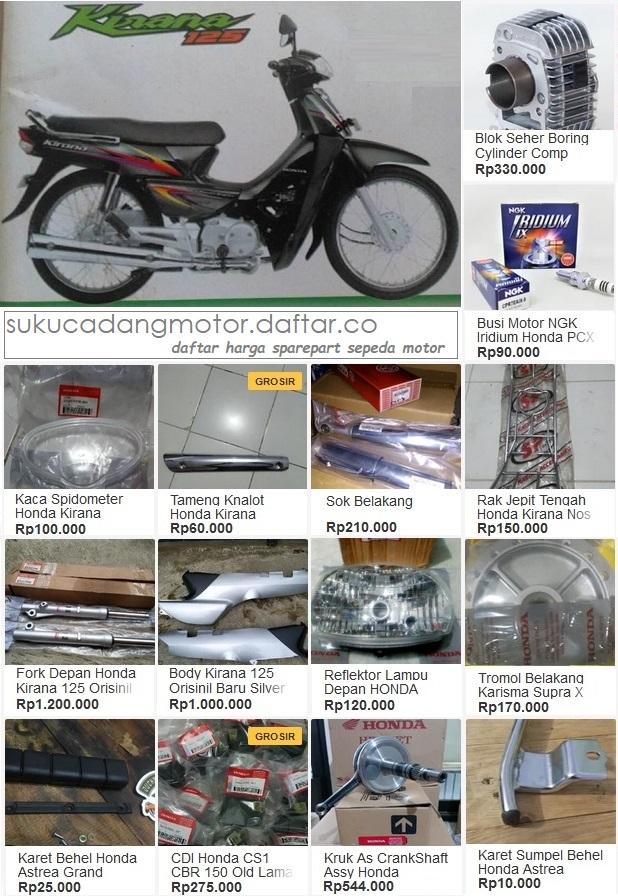 Daftar Harga Suku Cadang Honda Kirana