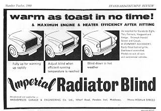 Imperial Radiator Blind from 1960