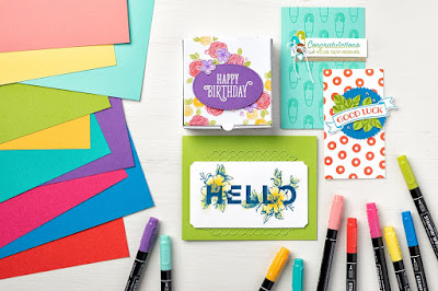 Stampin' Up! Brights Color Collection Projects