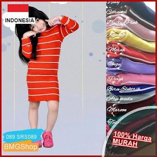 SRS089 Dress Anak Rajut Tebal Adila BMGShop