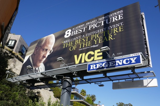 Vice Oscar nominee billboard