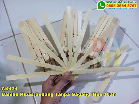 Toko Bambu Kipas Sedang Tanpa Gagang Tipe 18an