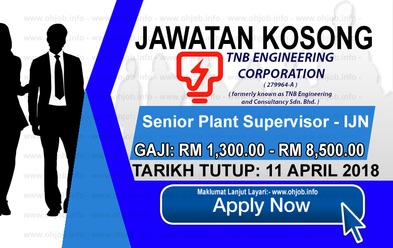 Jawatan Kerja Kosong TNB Engineering Corporation logo www.ohjob.info april 2018