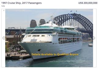 сколько стоит старый круизный корабль how much is the old cruise ship