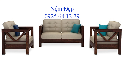 bọc nệm ghế sofa gỗ 021