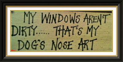 Funny Dog Humor : That's nose art