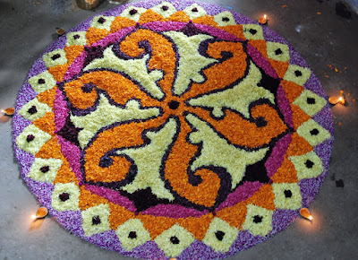 rangoli flower design image