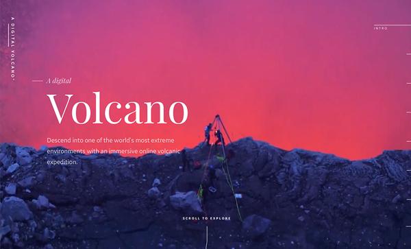 Trend and Inspiration Web Design 2018 - A Digital Volcano