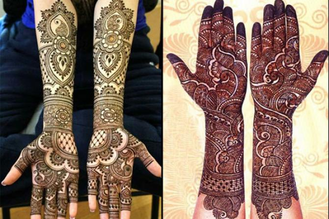 latest mehndi designs 2017 for karva chauth