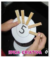 Atividade matemática Educação Infantil com material concreto