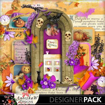 Digital scrapbooking kit about Halloween