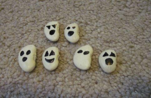 fantasmas están hechos con habas secas