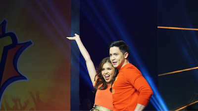 Alden and Maine as they finished their dance number