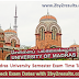 Madras University Time Table 2018 April PDF Announced - Download here
