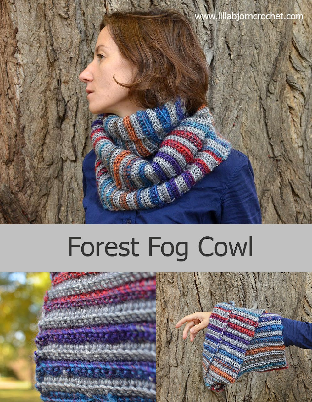 Forest Gog Cowl - Free crochet pattern by Lilla Bjorn Crochet with photo-tutorial