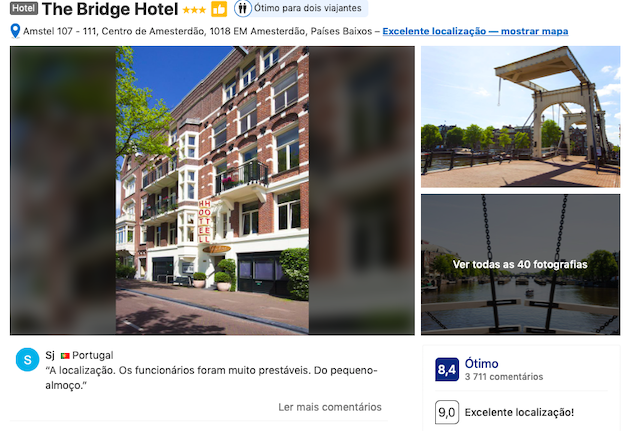 The Brigde Hotel em Amsterdã