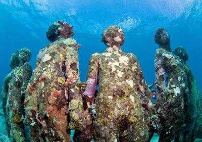 Vicisitudes Parque escultórico Isla Granada, Indias occidentales Jason Decaires Taylor Marinetti Love Sant'Elia Eufrasio Saluditero Solo apto para peces
